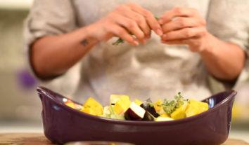 Aprenda a fazer legumes assados perfeitoscom a cozinheira Rafaela Ramallo